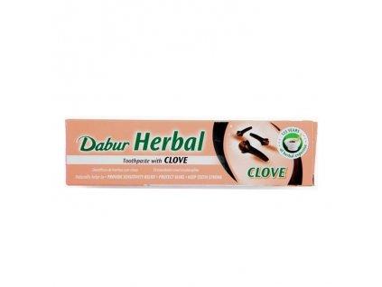 Bylinná zubní pasta s hřebíčkem (Herbal Clove Toothpaste), DABUR 155g