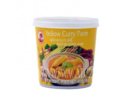 Žlutá kari pasta (Yellow Curry Paste), COCK BRAND 400g