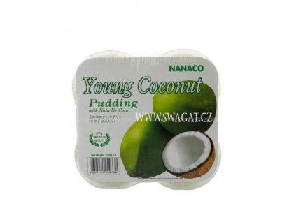 Kokosový pudink Nata de coco z mladého kokosu, NANACO 4x108g