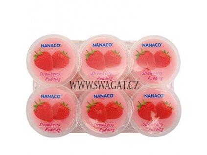 Kokosový pudink Nata de coco jahodový (Strawberry Pudding), NANACO 6x80g