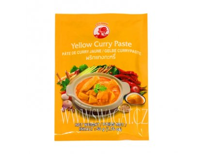 Žlutá kari pasta (Yellow Curry Paste), COCK BRAND 50g