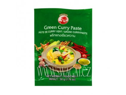 Zelená kari  pasta (Green Curry Paste), COCK BRAND 50g