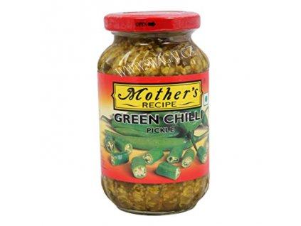 Nakládaný zelený chilli (Green Chilli Pickle), 500g