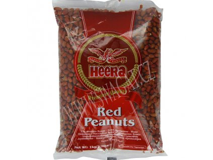 Arašídy červené nepražené (Raw Red Peanuts), HEERA 1kg