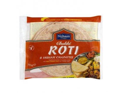 Chakki Roti indické čapáti, NISHAAN 6ks (350g)