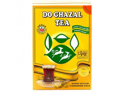 Ceylonský čaj s příchutí kardamomu (Pure Ceylon Tea with Natural Flavours of Cardamom), DO GHAZAL 500g
