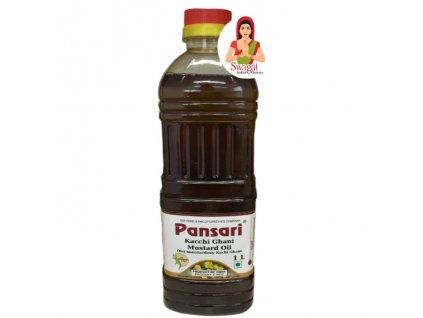Čístý Hořčičný olej (Pure Mustard Oil), PANSARI 1L