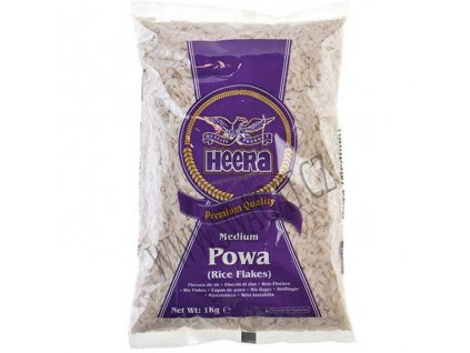 Rýžové vločky Powa střední (Rice Flakes Medium), HEERA 1kg
