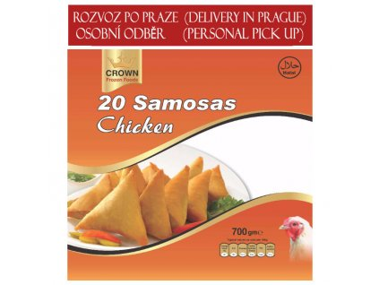 Kuřecí samosa (Chicken Samosa), CROWN 700g (20ks)