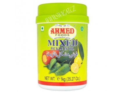 Naložená pikantní zelenina s ovocem v oleji (Mixed Pickle in Oil), AHMED FOODS 1kg