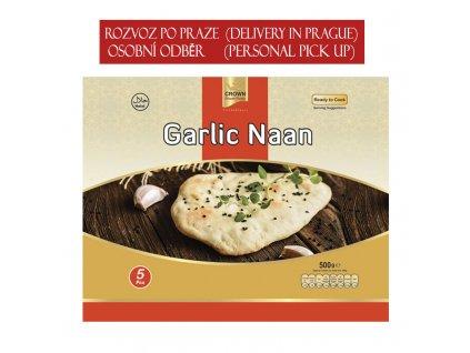 Česnekový naan (Garlic), CROWN 500g (5ks)