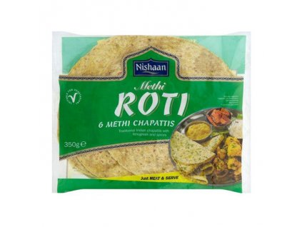 Methi (pískavice) Roti, NISHAAN 350g (6ks)