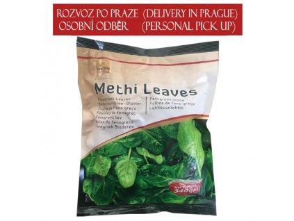 Methi – mražená pískavice (Frozen Fenugreek Leaves), CROWN 340g