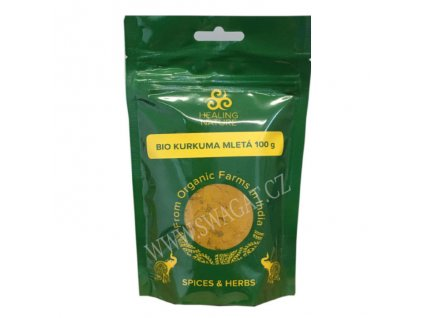 BIO Kurkuma mletá (Organic Turmeric Powder), HEALING NATURE 100g