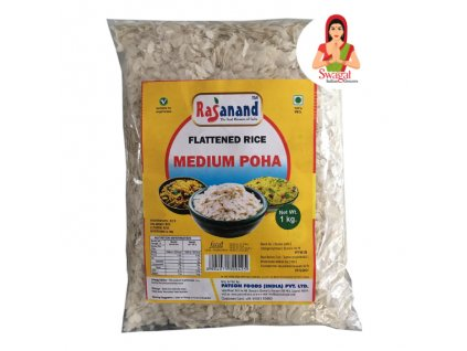 Powa rýžové vločky střední (Rice Flakes Medium), RASANAND 1kg