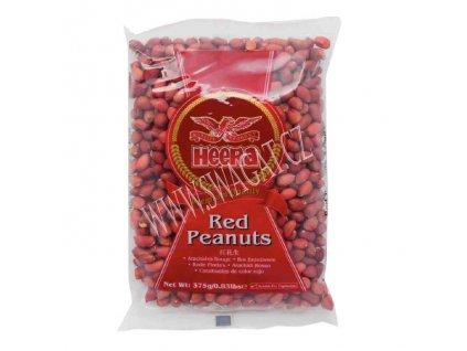Arašídy červené nepražené (Raw Red Peanuts), HEERA 375g