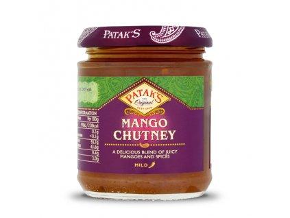 Mango Chutney sladký jemně pálivý (Sweet and Mild Spicy), PATAK`S 340g