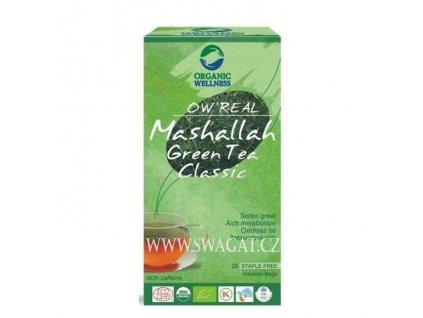 Bio Tulsi zelený čaj Mashallah,  OW 25 sačků