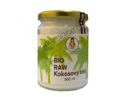 BIO Raw Kokosový olej (Pure Coconut Oil), SWAGAT 500ml