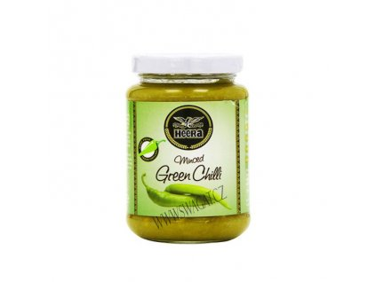 Pasta ze zeleneho chilli (Green Chilli Paste), HEERA 210g