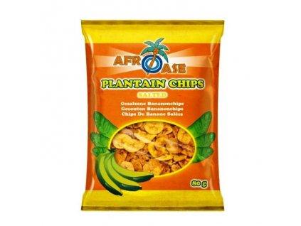 Banánové chipsy slané, AFROASE 80g