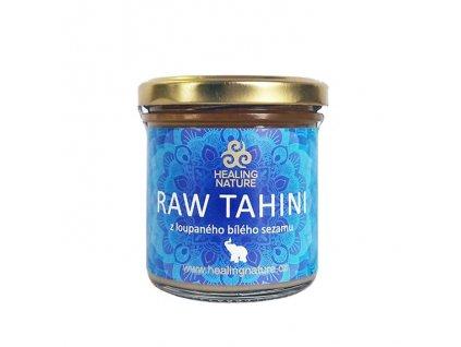 Tahini z loupaného bílého sezamu (Raw Tahini Blue), 165ml