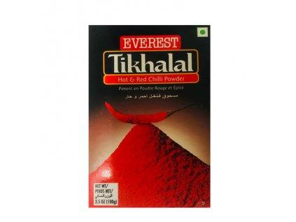Tikhalal extra pálivý červený chilli mletý, EVEREST 100g