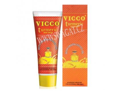 Kurkumový pleťový krém s santalovým olejem (Turmeric Skin Cream), VICCO 70g