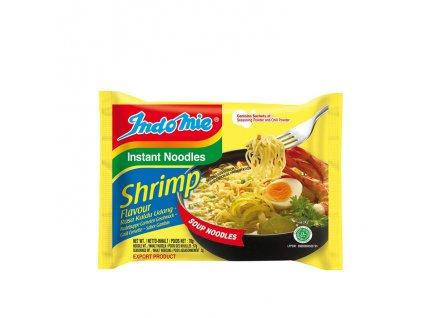 Instantní nudlová polévka s příchutí krevet, INDOMIE 75g