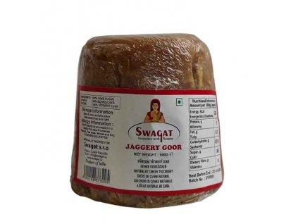 SWAGAT Jaggery Goor přírodní třtinový cukr 900g