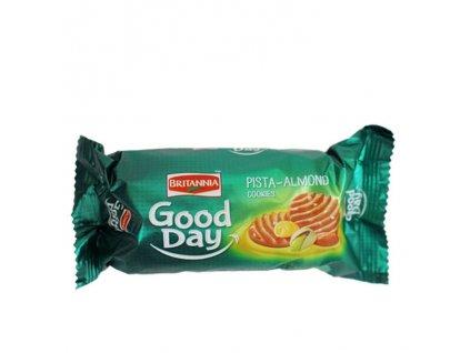 Sušenky Good Day mandle a pistácie, BRITANNIA 72g