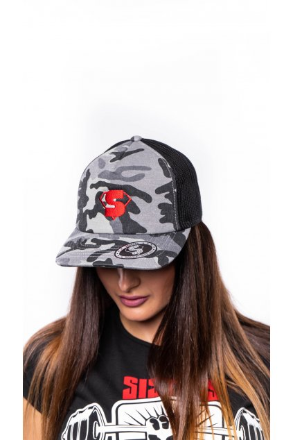 Camo black trucker red 1