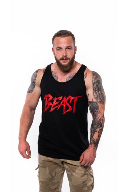 Beast tílko black red 1