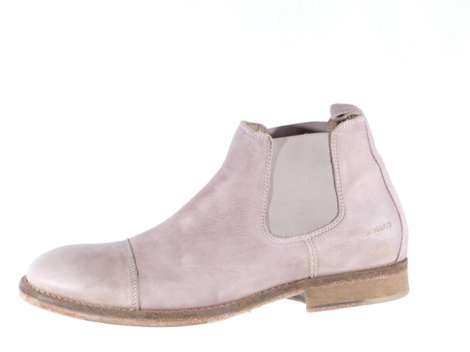 Pánská kožená kotníková obuv značky Ten Points  TP 323012 202 (Velikost 46, barva 202 sv.šedá)