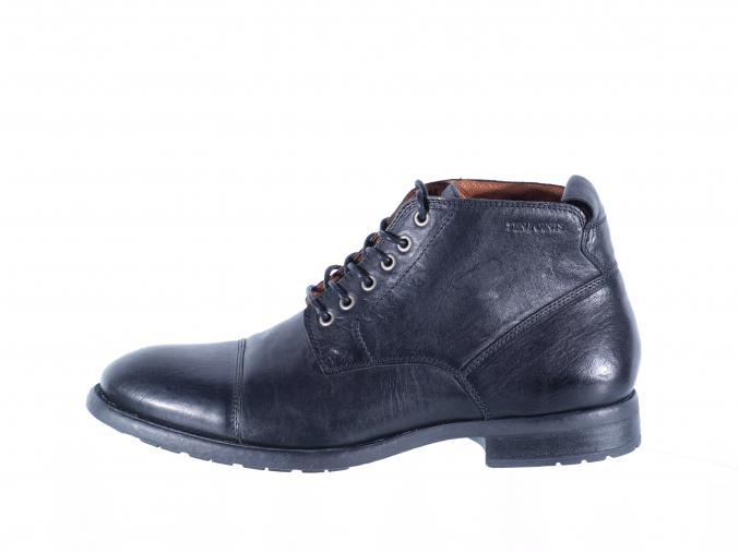Pánská ležérní kožená šněrovací kotníková obuv značky Ten Points  TP 384013 101 (Velikost 42, barva 101 černá)