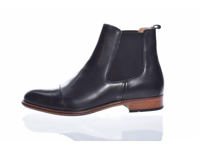 Dámská kožená kotníková obuv značky Ten Points  TP 205005 101 (Velikost 41, barva 101 černá)