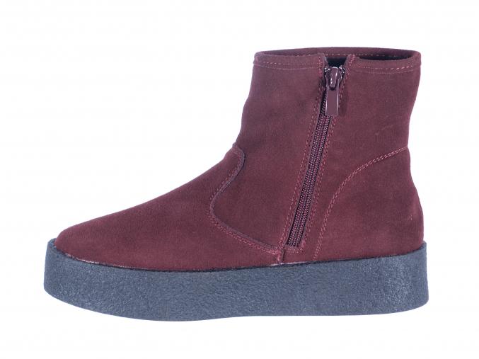 Dámská zimní kožená kotníková obuv značky Avenue L 82/109-026 47 (Velikost 41, barva 47 burgundy)