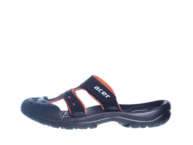Pánské pantofle s uzavřenou špičkou  L 81/165-014 46 (Velikost 46, barva 46 oranžová/černá)