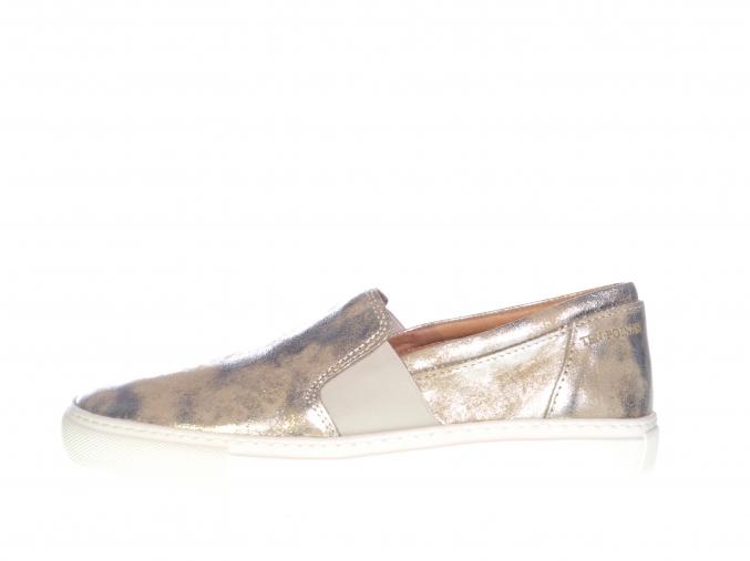 Dámské kožené metalické sneakers značky Ten Points  TP 265021 214 (Velikost 41, barva 214 silver)