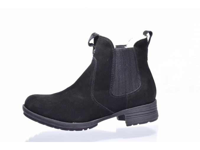 Dámská kožená kotníková obuv značky Softdream L 82/179-018 90 (Velikost 41, barva 90 černá)