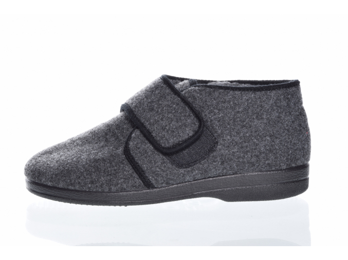pánská domácí obuv značky Adanex  L 8492-824 (Velikost 46, barva šedá)
