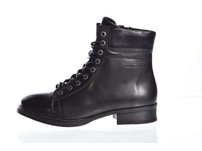 Dámská kožená kotníková obuv značky TEN POINTS  TP 60015  101