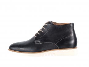 Pánská kožená kotníková obuv značky Ten Points  TP 205031 101 (Velikost 45, barva 101 černá)