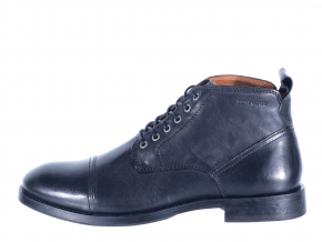 Pánská kožená šněrovací kotníková obuv značky Ten Points  TP 384021 101 (Velikost 46, barva 101 černá)