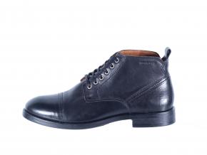 Pánská kožená šněrovací kotníková obuv značky Ten Points  TP 386011 101 (Velikost 44, barva 101 černá)