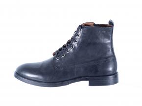 Pánská kožená šněrovací kotníková obuv značky Ten Points  TP 386014 101 (Velikost 45, barva 101 černá)
