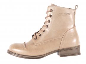 Dámská kožená šněrovací kotníková obuv značky Ten Points  TP 124007 356 (Velikost 38, barva 356 taupe)