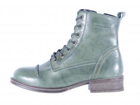 Dámská kožená šněrovací kotníková obuv značky Ten Points  TP 124007 501 (Velikost 41, barva 501 zelená)