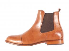 Dámská ležérní kožená kotníková obuv značky Ten Points  TP 202004 319 (Velikost 41, barva 319 cognac)