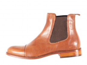 Dámská ležérní kožená kotníková obuv značky Ten Points  TP 204003 319 (Velikost 41, barva 319 cognac)